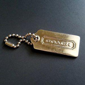 Coach Logo Purse Handbag Silver Tone Chain Charm